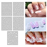 Fan-Ling Christmas Gummed Nail Art Decals,Winter Snowflake Nail Art Decals, Nail Sticker Nail Art,Suitable for Nail Polish, UV Gel, Acrylic Resin and Other Surfaces,for Professional or Family use