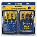 IRWIN SPEEDBOR Max Speed Auger Wood Drill Bit Set, 6-Piece, 3041006