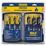 IRWIN SPEEDBOR Max Speed Auger Wood Drill Bit Set, 6-Piece, 3041006