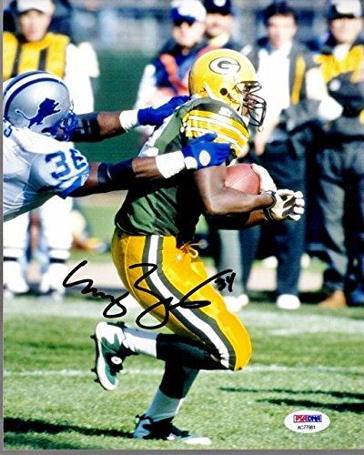 Edgar Bennett Green - Edgar Bennett Autographed Green Bay Packers 8x10 inch Photo with PSA/DNA Authentic