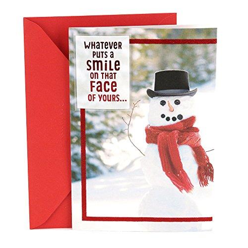 Hallmark Christmas Greeting Card for Family (Snowman) My Christmas Wish To You