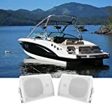 Pair Rockville HP5S 5.25'' Marine Box Speakers with Swivel Bracket For Boats