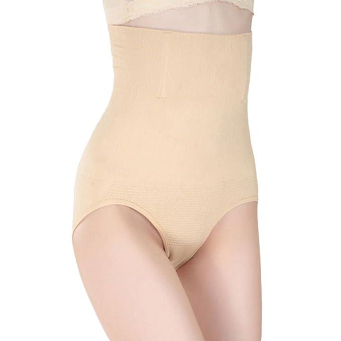 Mengonee Bragas ropa interior sin costuras mujeres de cintura alta cuerpo que forma el abdomen que