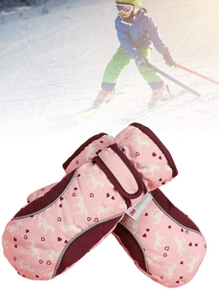 Winter Wasserdichte Schnee Handschuhe F/ür Jungen M/ädchen sustainable flouris Kinder Ski Handschuhe