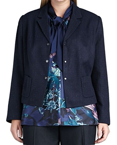 T Tahari Selinda Tweed Boucle Jacket Button-Front Blazer, Blue Navy/Cancun (6 (petite))