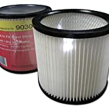 GK MicroPlus For Shop Vac 90304 Multi Fit Pleated Cartridge Filter Wet & Dry Press Fit, Pack of 8