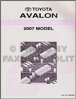 toyota avalon wire diagram 2007 toyota avalon wiring diagram manual original toyota amazon  2007 toyota avalon wiring diagram
