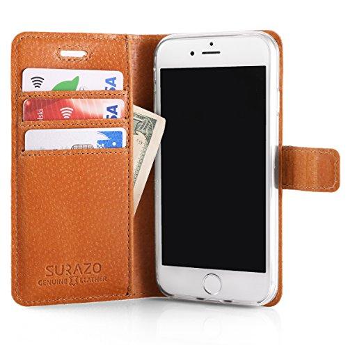 Vintage Orange Eule - Premium Vintage Ledertasche Schutzhülle Wallet Case aus Echtesleder Nubukleder mit Kreditkarten / Notizen Fachern Farbe Orange von Surazo® Vintage Kollektion für Google PIXEL 2 X
