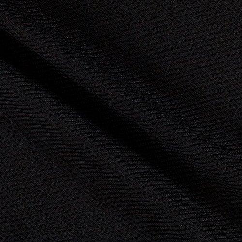 Lavitex 2X1 Rib Knit Black Fabric by The Yard,