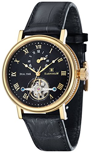 Thomas Earnshaw Womens The Beaufort Watch - Black/Gold