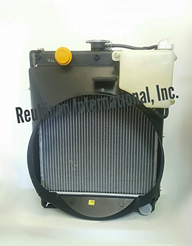 Mahindra Tractor Radiator with cowl, reservoir and radiator cap ()