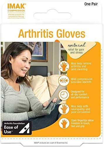 IMAK Compression Arthritis Gloves- Premium Arthritic Joint Pain Relief Hand Gloves for Rheumatoid & Osteoarthritis -