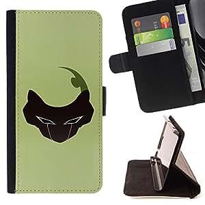 BullDog Case - FOR/HTC Desire 820 / - / Abstract Face /- Monedero de cuero de la PU Llevar cubierta de la caja con el ID Credit Card Slots Flip funda de cuer