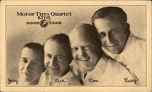 Vintage Advertising Postcard: Goodyear Motor Tires Quartet, KFOX Advertising