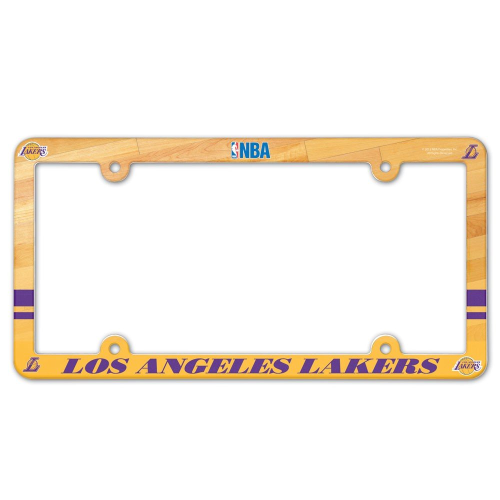 Team Color NBA Los Angeles Lakers Full Color License Plate Frame One Size
