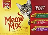 Cheap Meow Mix Tender Favorites Poultry and Beef Variety Pack, 12/2.75 Ounce Cups (Pack of 4)