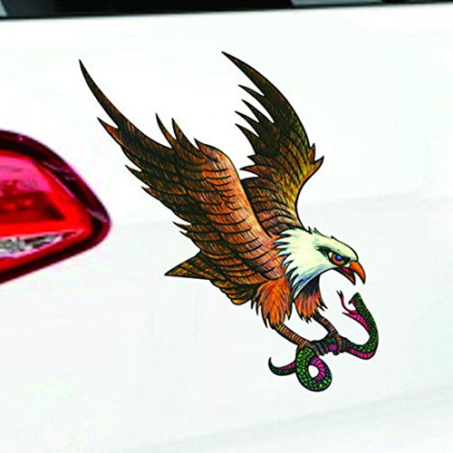 Car Eagle Stickers, Flying Hawk USA Flag Sticker for Vehicles Waterproof Fade-resistant Window Wall Stickers for Home Bathroom Office Dorm Store Gessppo]()