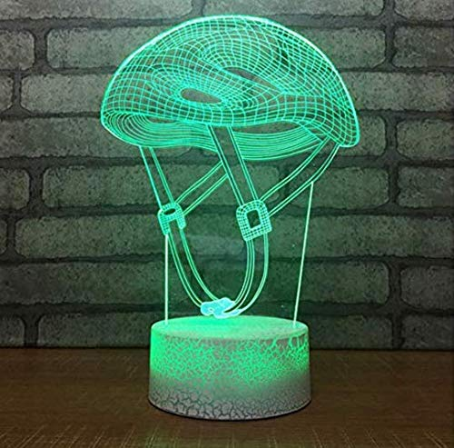 Attic Chandeliers Children's Night 3D Night Light Bedside Novelty 3D Led Night Light Mountain Bike Hat Table Lamp Lighting Fixture USB