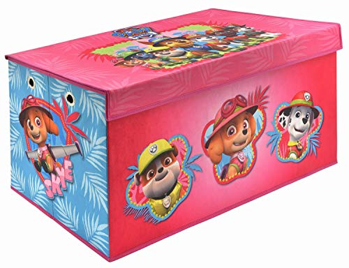Skye Paw Patrol Folding Soft Storage Bench, Perfect Toy Box or Chest for Playrooms, Officially Licensed Product