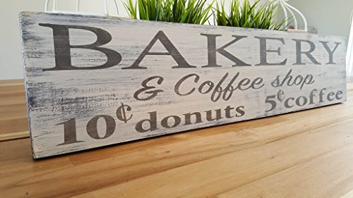 Farmhouse wood sign-Bakery and Coffee shop-dining room sign-kitchen decor-rustic wood sign-distressed sign