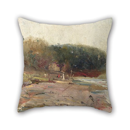 - Bestseason Pillow Covers 16 X 16 Inches / 40 By 40 Cm(twin Sides) Nice Choice For Couples,living Room,bf,indoor,bench,relatives Oil Painting Charles Conder - On The River Yarra, Near Heidelberg, Vic