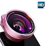 Hd360x Zoom Lens Smartphones Best Deals - NATAMO Cell Phone Camera Lens Kit include 60mm 0.45X Super Wide Angle & 15X Macro Lens & Lens Clip 2-In-1 Universal HD Clip-on Camera lenes for SmartPhone Tablet Laptop