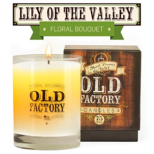 [Scented Candles - Lily of the Valley - Decorative Aromatherapy - 11-Ounce Soy Candle] (Lilies Unity Candle)
