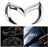 mazda 3 emblem rear - CHAMPLED BAT CHROME MAZDA 3 5 6 EMBLEM BADGE REAR TRUNK BATMAN METAL ORNAMENT EVIL NEW For HONDA INFINITI KIA HYNDAI DACIA DAEWOO