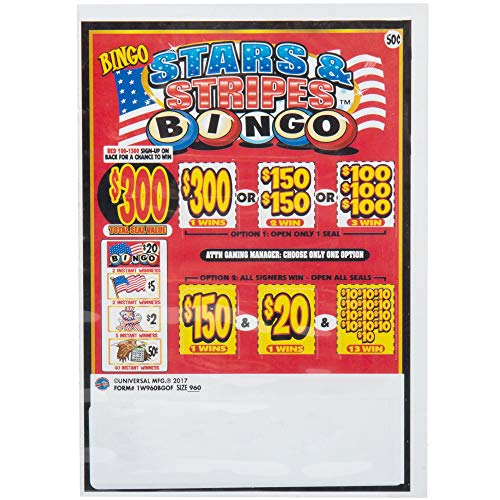 Bingo Pack 1 Window Pull Tab Tickets - 960 Tickets per Deal - Total Payout: $360 ()