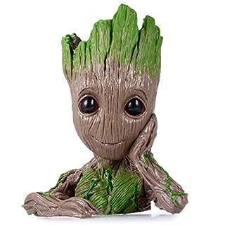 "Groot Action Figures Guardians of The Galaxy Flowerpot Baby Cute Model Toy Pen Pot Best 6.3"""