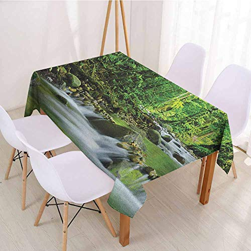 Rectangular Polyester Tablecloth Fabric Tablecloth W 52