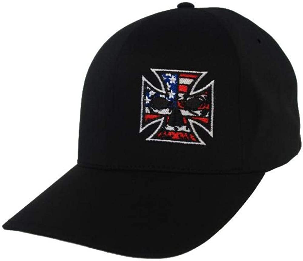 Delta Performance Fitted Hat Red White /& Blue Stitch