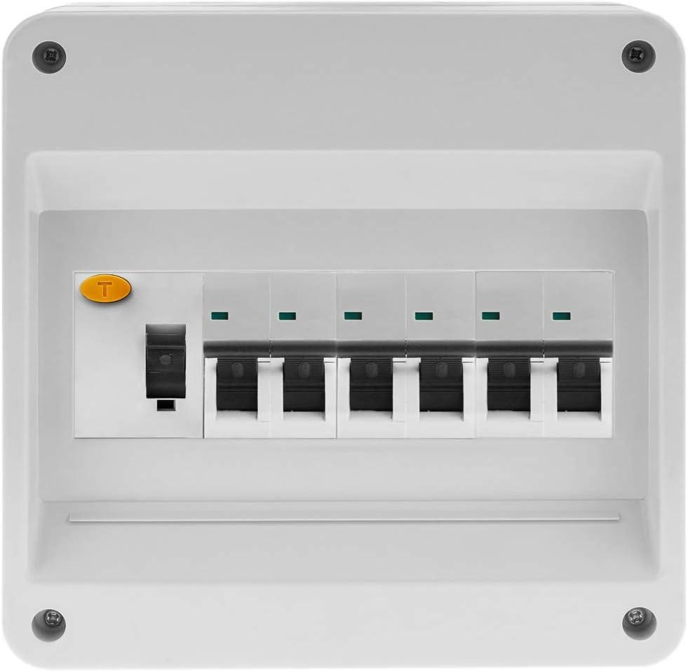 BeMatik Bo/îtier de Surface dautomatisation /électrique pour 8 modules en Plastique ABS de 18 mm