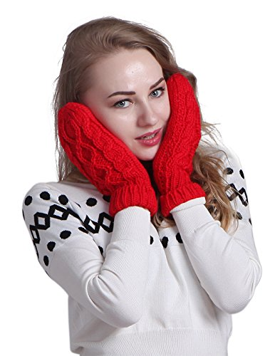 HDE Womens Winter Crochet Mittens