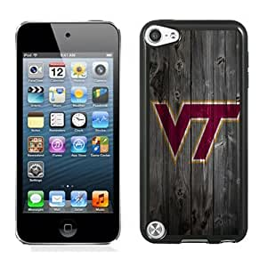 Fashionable And Unique Designed With NCAA Atlantic Coast Conference ACC Footballl Virginia Tech Hokies 7 Protective Cell Phone Hardshell Cover Case For iPod 5 Phone Case Black