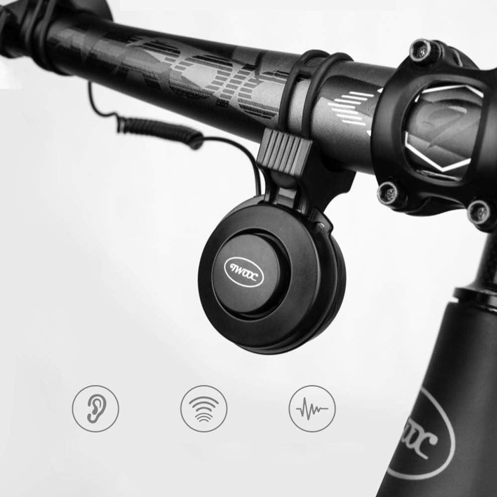 Aumaric Campana de Bicicleta el/éctrica Campanas de Alarma de Ciclismo a Prueba de Agua de 4 Anillos 50-100dB USB Recargable Ajustable para Scooter Cruiser Ebike Triciclo