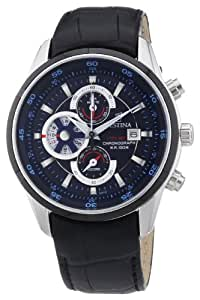 Festina F6821/2 - Reloj cronógrafo de cuarzo para hombre con correa de piel, color negro