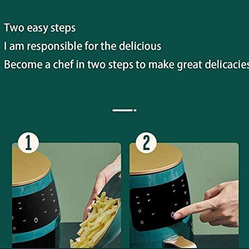 4.5L Friteuse électrique, multifonction grande capacité LCD à écran tactile Smart Home sans fumée du four, peuvent rapidement Fry aliments sains hfhdqp
