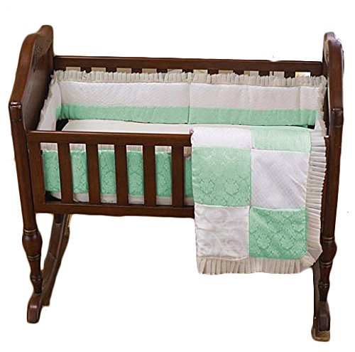 BabyDoll Baby King & Queen Cradle Bedding, Green, 18'' x 36''