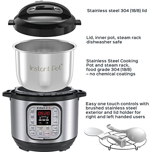 Instant Pot Duo Mini 7-in-1 Multi-Use Programmable Pressure Cooker, 3 Qt | Stainless Steel