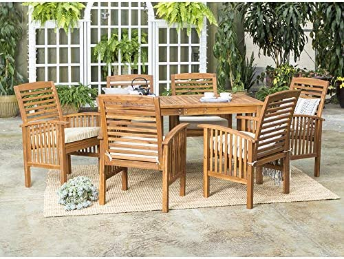 Walker Edison Furniture Company AZW12SDTBR 12 Person Outdoor Wood