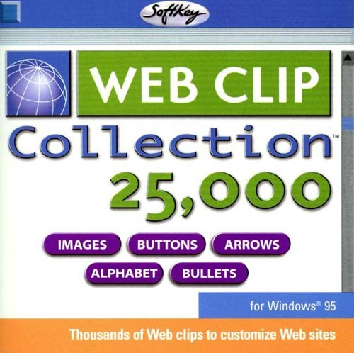 Web Clip Collection 25,000 Images, Buttons, Arrows, Alphabet & Bullets : Productivity (Animated & Non-Animated Clips + MIDI Format Music Clips) [CD-Rom]
