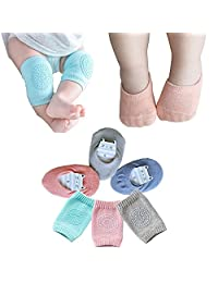 Baby Crawling Anti-Slip Knee Unisex Baby Toddlers Kneepads 3 Pairs
