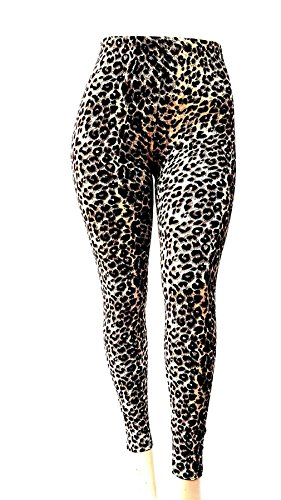 Cheetah Collection (david collection Always Womens Plus Size Animal Leopard Cheetah Print Leggings One Size 1 X 2X 3X)
