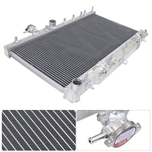 Subaru Impreza Engine Swap - For Subaru Wrx Impreza Automatic At Auto Turbo Engine Swap Aluminum Racing Dual Core Radiator