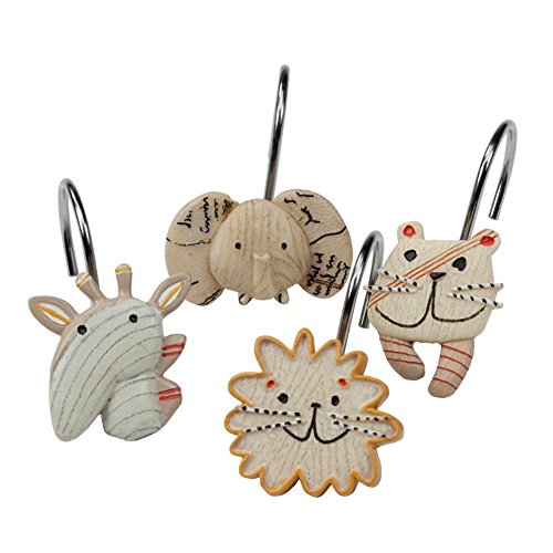 [Creative Bath Products Animal Crackers Shower Hook, 12-Pack] (Creative Cow Costumes)