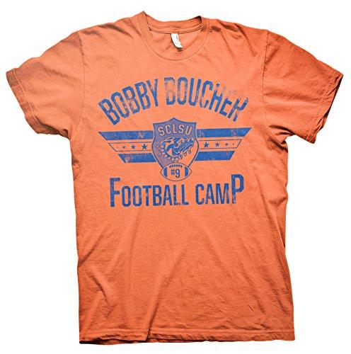Bobby Boucher Football Camp - Mud Dogs Water Boy Funny Movie T-shirt - Orange -