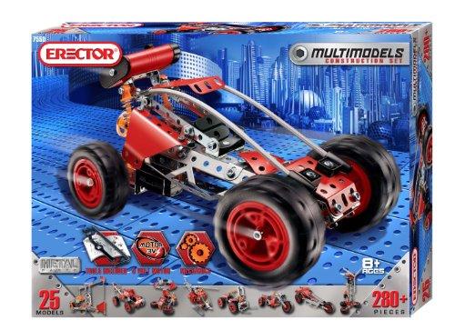 Erector Multi Model 25 Model Set - 280 Pieces + Parts
