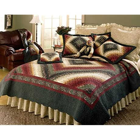 Spice Postage Stamp King 4 Piece Quilt Set By Donna Sharp