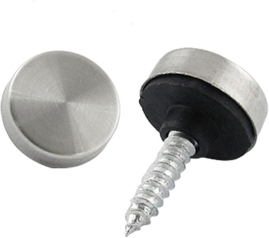8 Pcs Stainless Steel Cap Cover Decorative Mirror Screws HI